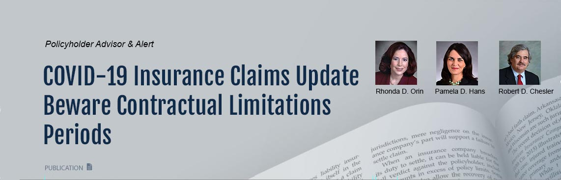 Contractual Limitations Periods